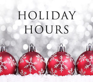 SDC Holiday Hours